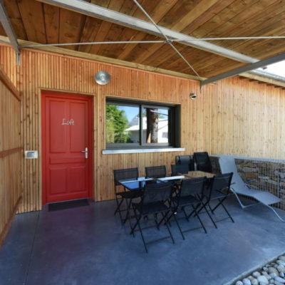 terrasse extérieure chalets de maramour